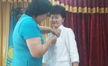 награждение медалью к 20-ию Астаны Досбаева Динар Сейдалиевна